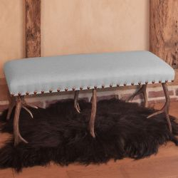 No Footsie Antler Bench